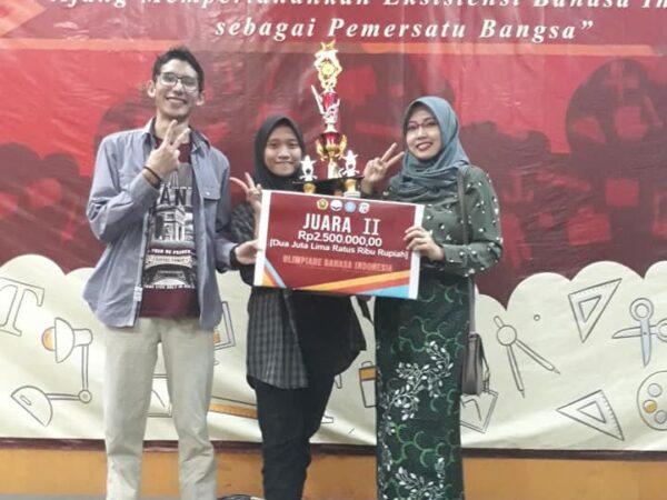 Juara 2 Olimpiade Bahasa Indonesia (OBI) Se-Jawa Timur dan Bali 2019