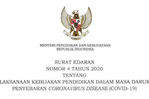 Ujian Nasional 2020 Dibatalkan : SE Mendikbud Nomor 4 Tahun 2020