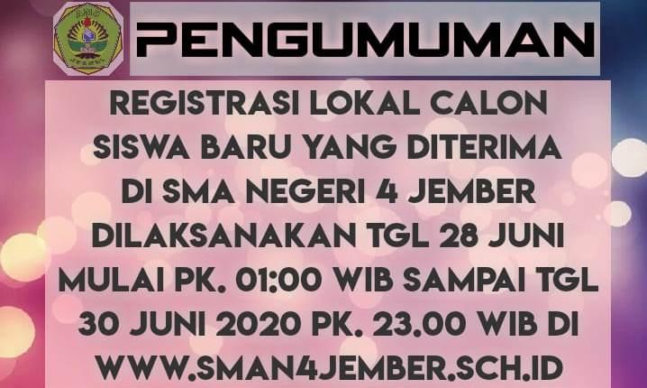 Registrasi Lokal web SMAPA